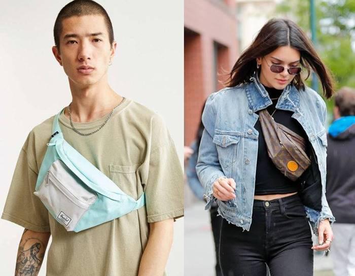 cara kreatif menggunakan tas pinggang