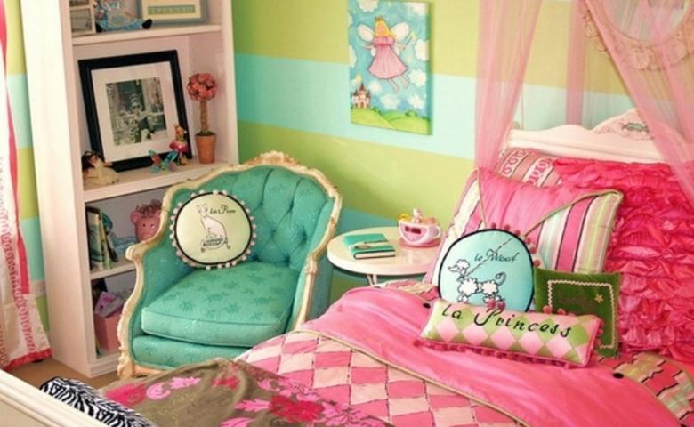 Cat Kamar Tidur Kombinasi Warna Cat Rumah Hijau Tosca Dan Pink