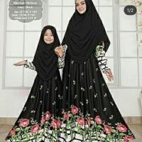 Gamis syari couple ibu dan anak / baju muslim couple