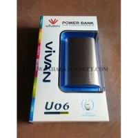 Power Bank Vivan 6600mah U06 (Grey)