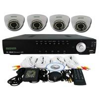 Medusa CCTV Paket 4 Camera Dome KIT-TSH-401A - Putih 700 TVL HDMI