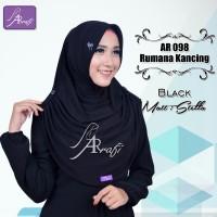 Jilbab instan Arrafi Rumana Kancing (warna Black) AR98 Hijab Kerudung