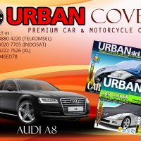 AUDI A8 BLACK SILVER COVER SELIMUT MOBIL URBAN ANTI AIR WATERPROOF