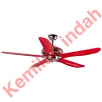 KIPAS ANGIN MT EDMA CATHAY 54INCH 5BLADE CEILING FAN RED REMOTE