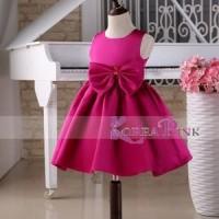 Jual Korea Pink Rose Dress Terlaris Baru | Baju Gaun / Dress Anak Te