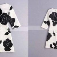 Jual (DRESS ANAK) Korea Pink Dress Mawar Hitam. Baru | Baju Gaun / D