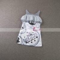 Jual (DRESS ANAK) Korea Pink Dress Zebra Abu. Baru | Baju Gaun / Dre