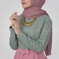 Blouse Muslim Simple Anggun Shejab Safeea Tunic Ori Baju Atasan Wanita