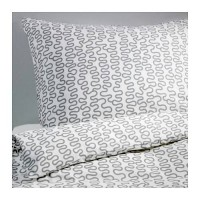 IKEA KRAKRIS, Sarung selimut 240x220cm & bantal 50x80cm