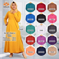 GAMIS POLOS JERSEY SUPER BUSUI SIZE FIT TO L (KODE GL 001) Berkualitas