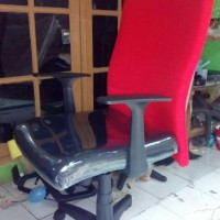 Kursi Kerja Office Big Man Minimalis, meeting, rapat, CS Merah Hitam