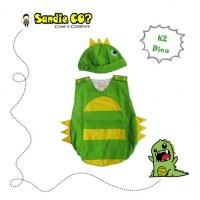 Baju Bayi Jumper Karakter Stelan Kostum Topi Lucu Dinosaurus