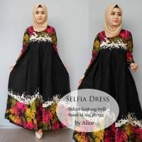 Long Dress Baju Muslim Gamis Maxi Dress SELFIA DRESS