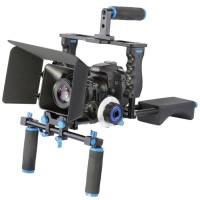 Paket Stabilizer RIG Kamera DSLR 5 in 1 Shoulder + Follow Focus + DLL