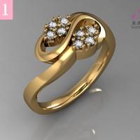 Cincin Emas putih Zircon Perhiasan imitasi 18k Yaxiya Jewelry 231