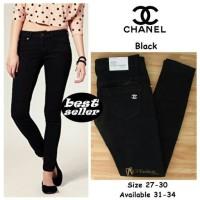 celana jeans chanel cewek   wanita slimfit termurah T3010