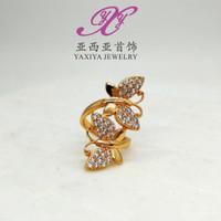 JUAL Cincin emas Twin butterfly jewel Perhiasan imitasi Gold18k Yaxiya