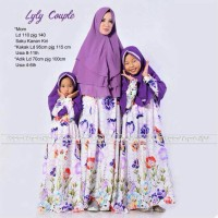 grosir murah baju muslim pasangan lyly couple ibu dan anak
