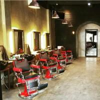 Kursi Pangkas Barber Chair Classic Vintage Nichiri CHROME