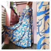 Gamis Cantik Motif Model Umbrella Bahan Wolfis Monalisa Kode GU5