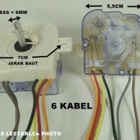 TERBARU Timer Mesin Cuci 6 Kabel Wash/Pencuci LG-SANYO-SHARP-POLYTRON