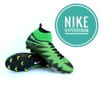 Sepatu Bola Nike Hypervenom warna hijau