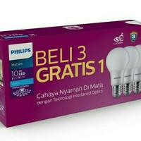 lampu led philips 10watt 3 in 1 putih