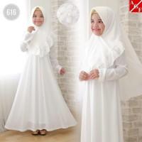 Gamis Anak Putih / Baju Manasik Muslim Putih Anak / Gamis Muslim Anak
