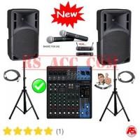Paket Sound system Speaker rae Baretone yamaha dan shure karaoke