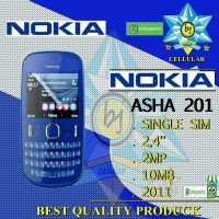 NOKIA ASHA 201 Single Sim HP Handpone Nokia Qwerty Asha 201 Murah