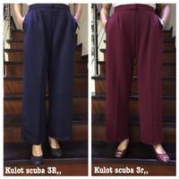 READY STOCK Kulot Panjang 3R bahan Scuba Impor Celana Wanita Kantor
