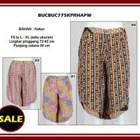 Big Size Fit to XL Celana Kulot Pendek Batik Wanita BUCBUC775KPR Katun