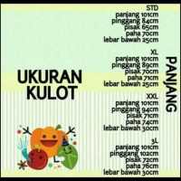 (Super Promo) Celana Kulot Panjang 3R Big Size (Xxl Dan Xxxl) Good