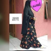 baju gamis syari bahan wolfis bagus adem busana muslimah dress syar