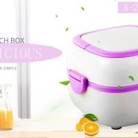 ( 2 Susun ) Mini Rice Cooker + Lunch Box Food Steamer + Egg Boiler