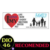 Jual Stiker Kata I Love My Family Wall Sticker Paper Dinding Kaca Mobil Trans Doff Jakarta Timur Dio 46 Tokopedia