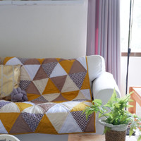 Patchwork quilt, selimut, bedcover, tutup sofa, sofa cover, quilting