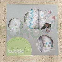 Bamboo Bubble Wrap Big Blue Sky 3 Pack Mothercare Bedong Selimut Bayi