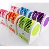 AC Duduk Mini Double Fan ( kipas angin duduk meja laptop kecil