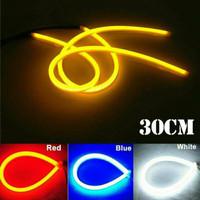LAMPU LED ALIS NEON 30CM DRL FLEXIBLE/FLEKSIBEL VARIASI MOTOR MOBIL