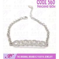 Lucu Gelang Rantai Emas Putih Perhiasan Imitasi 18K Yaxiya 560 Promo