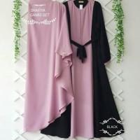 Shafiya Syari - Gamis Syarii Set Khimar Modern Bahan Moscrepe