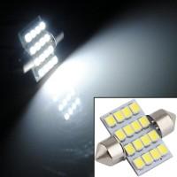 Lampu LED Interior Kabin Plafon Mobil Putih Terang 31mm Festoon 16 SMD