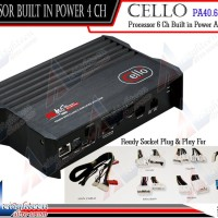 Cello - PA40.6 MINI Processor DSP Built In Power Amplifier 4 - Chann