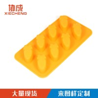 Supply silicone 8 hole carrot cake mold oven baking Alat Buat Kue