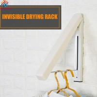 Jual Laundry Drying Rack Wall Mount Retractable Folding Invisible Clothes Kota Bogor Hati Hati Main Hati Tokopedia
