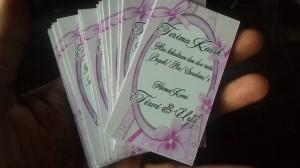 Jual Kartu Ucapan Terima Kasih Pernikahan Wedding Card Unik Pake