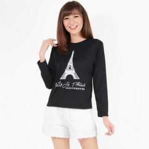 Jual Alinea Kaos Wanita Paris Panjang Hitam Jakarta Barat Tan Alinea Tokopedia