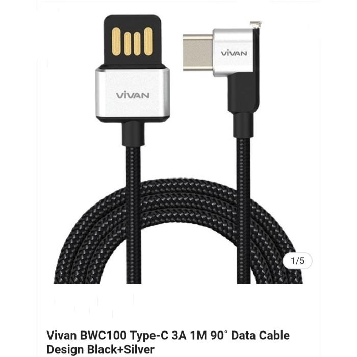 Jual Vivanbwc100 Type C 3a 1m 90 Data Cable Design Black Silver Kota Bandung Top Golden Dk Tokopedia