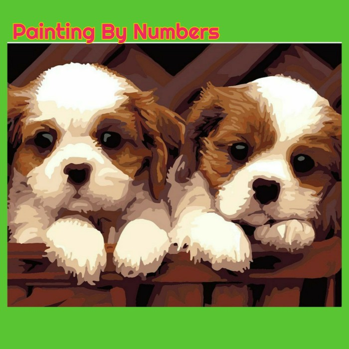 Jual Diy Painting By Number Cute Dogs Kab Bogor Y Delightz Tokopedia